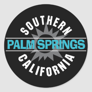 Southern California - Palm Springs Classic Round Sticker