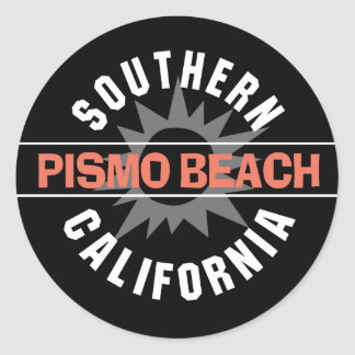 Southern California - Pismo Beach Classic Round Sticker
