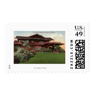 Southern California Residence Postage Stamp