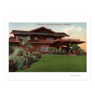 Southern California Residence Postcard