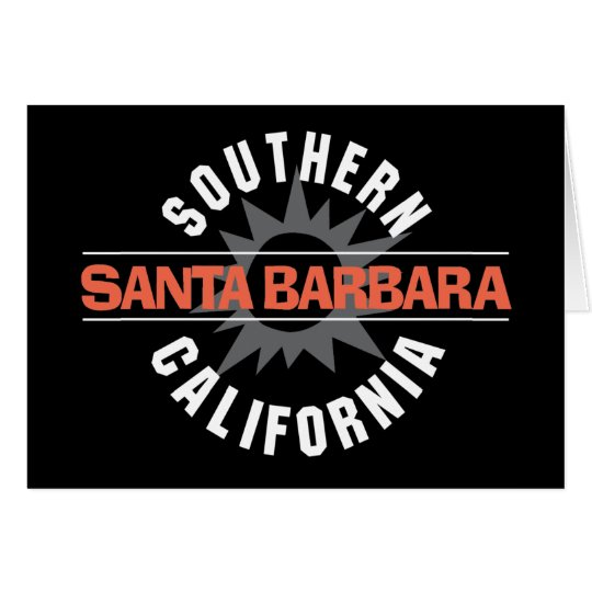 Southern California - Santa Barbara Card