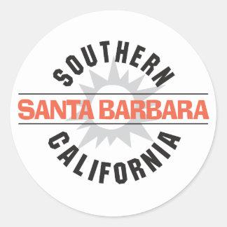 Southern California - Santa Barbara Classic Round Sticker