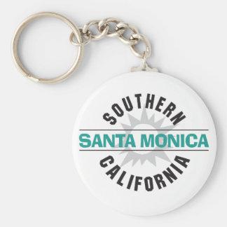 Southern California - Santa Monica Basic Round Button Keychain