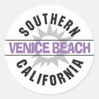 Southern California - Venice Beach Classic Round Sticker