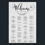 "Southern Calligraphy Alphabetical Seating Chart<br><div class=""desc"">This southern calligraphy alphabetical seating chart poster is perfect for a modern wedding. This sign can be used to organize your guests alphabetically or by table number. The minimalist design features rustic yet elegant black and white typography with whimsical flourishes for a simple look. This wedding poster includes enough room...</div>"