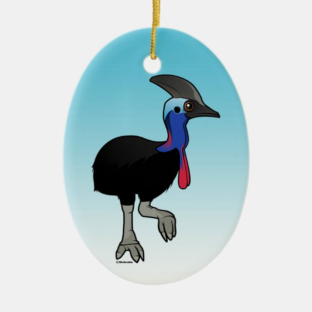 Southern Cassowary Oval Ornament In Birdorable Shop