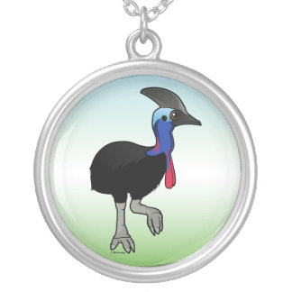Southern Cassowary Silver Plated Necklace