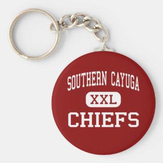 Southern Cayuga - Chiefs - High - Poplar Ridge Basic Round Button Keychain
