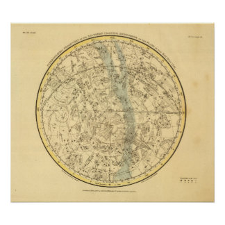 Southern Celestial Hemisphere Poster