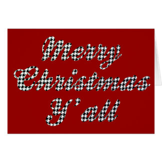 Southern Christmas Greeting Houndstooth Card