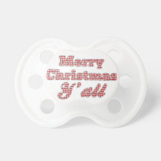 Southern Christmas Greeting Houndstooth Pacifiers
