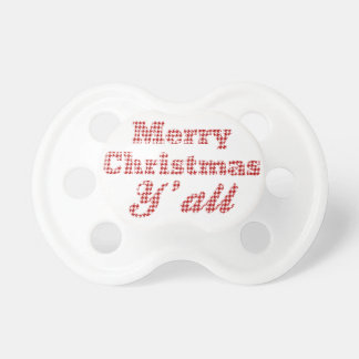 Southern Christmas Greeting Houndstooth Pacifier