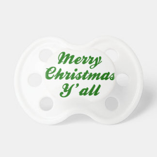 Southern Christmas Greeting Houndstooth Baby Pacifier