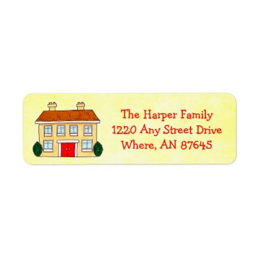 Musicat Southern Colonial Preppy Yellow Address Labels