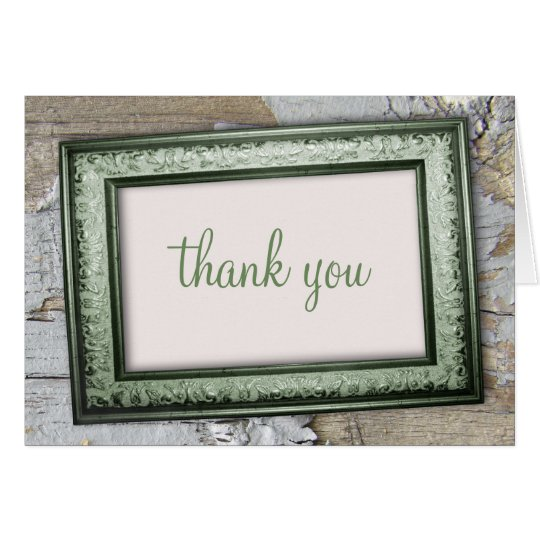 Southern Country Green Rustic Thank You Cards