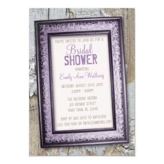 Southern Country Rustic Bridal Shower Invitations