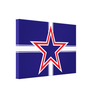 Southern Cross flag, star crossed red white & blue Canvas Print