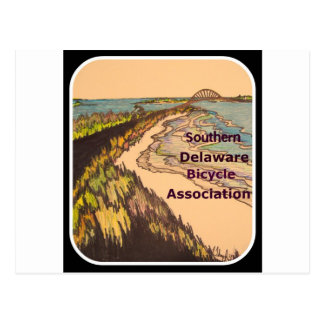 Southern Delaware Bicycle Association logo Postcard
