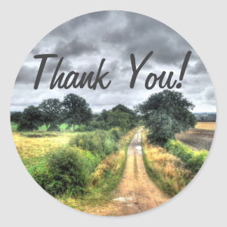 Southern England Country Lane Thank You Sticker