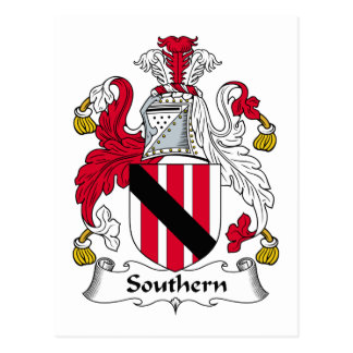 Southern Family Crest Postcard