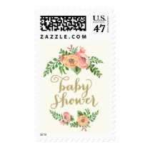 Southern Floral Baby Shower Postage