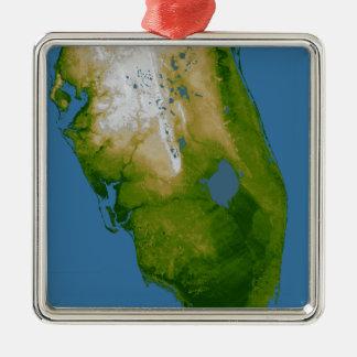 Southern Florida Metal Ornament