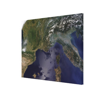 Southern France and Northern Italy Canvas Print
