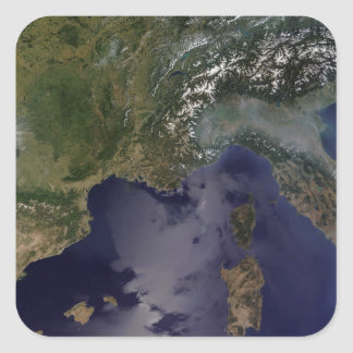 Southern France and Northern Italy Square Sticker