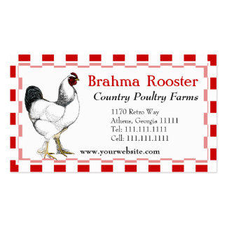 Southern Fried Chicken Restaurant Poultry Farm Double-Sided Standard Business Cards (Pack Of 100)