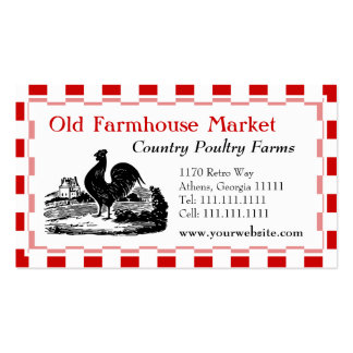Southern Fried Chicken Restaurant Poultry Farm Business Card