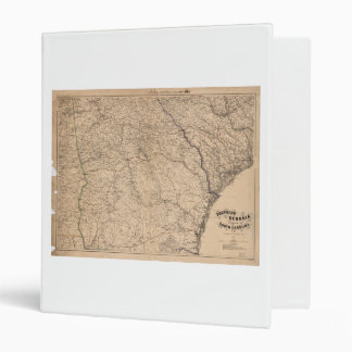 Southern Georgia and part of South Carolina (1865) 3 Ring Binder