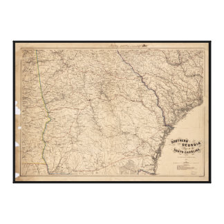 Southern Georgia and part of South Carolina (1865) Canvas Print