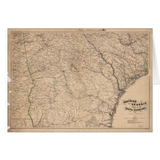 Southern Georgia and part of South Carolina (1865) Card