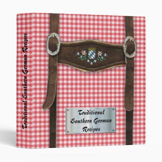 Southern German Recipes 3 Ring Binder