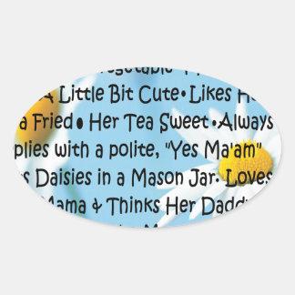 Southern Girl Oval Sticker
