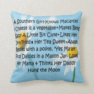 Southern Girl Throw Pillow