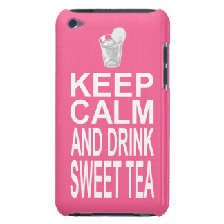 Southern Girl Pink Keep Calm and Drink Sweet Tea iPod Touch Case-Mate Case
