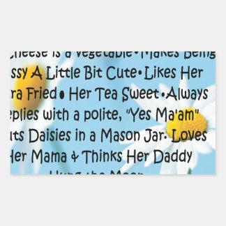Southern Girl Rectangular Sticker