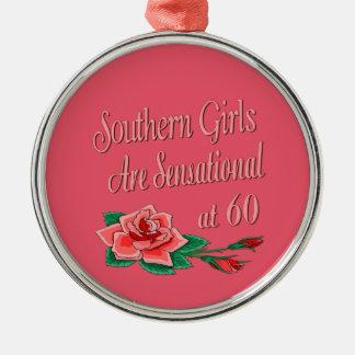 Southern Girls 60th Birthday Rose Metal Ornament