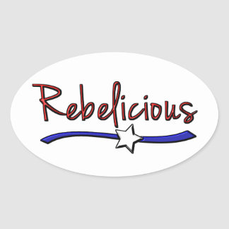 Southern  Girls are  Rebelicious Oval Sticker