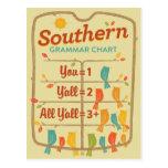 Southern Grammar Chart Postcard