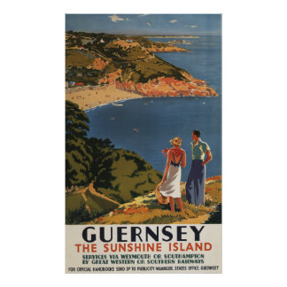 Southern/Great Western Rail Couple on Cliff Poster