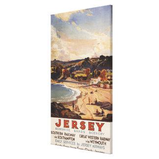 Southern/Great Western Railway Beach Scene Canvas Print