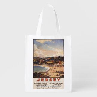 Southern/Great Western Railway Beach Scene Grocery Bags