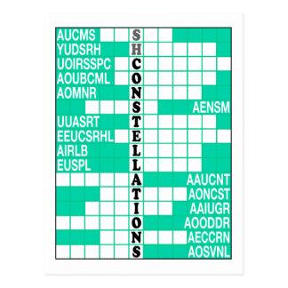 Southern Hemisphere Constellations Word Scramble Post Cards
