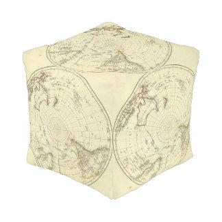 Southern Hemisphere Cube Pouf