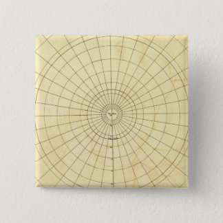 Southern Hemisphere Outline Pinback Button