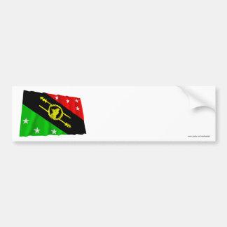 Southern Highlands Province Waving Flag Bumper Sticker