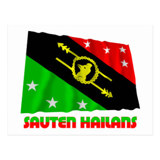 Southern Highlands Province Waving Flag Postcard