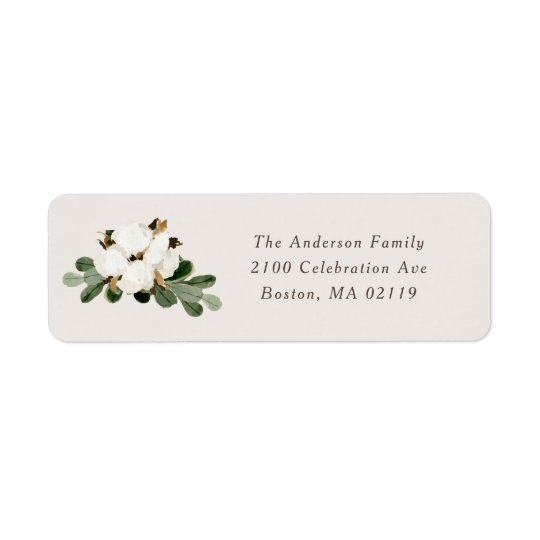 southern holiday return address labels zazzle com